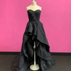 Alisha Hill 80096 Black Strapless Hi-Lo Dress